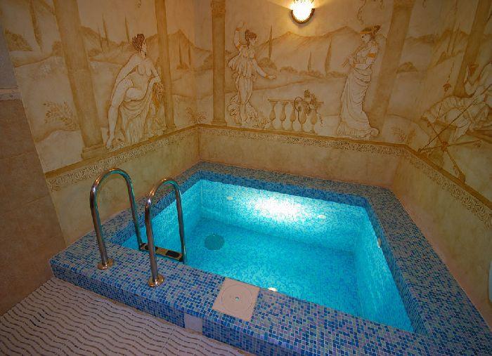 Бассейн в бане фото